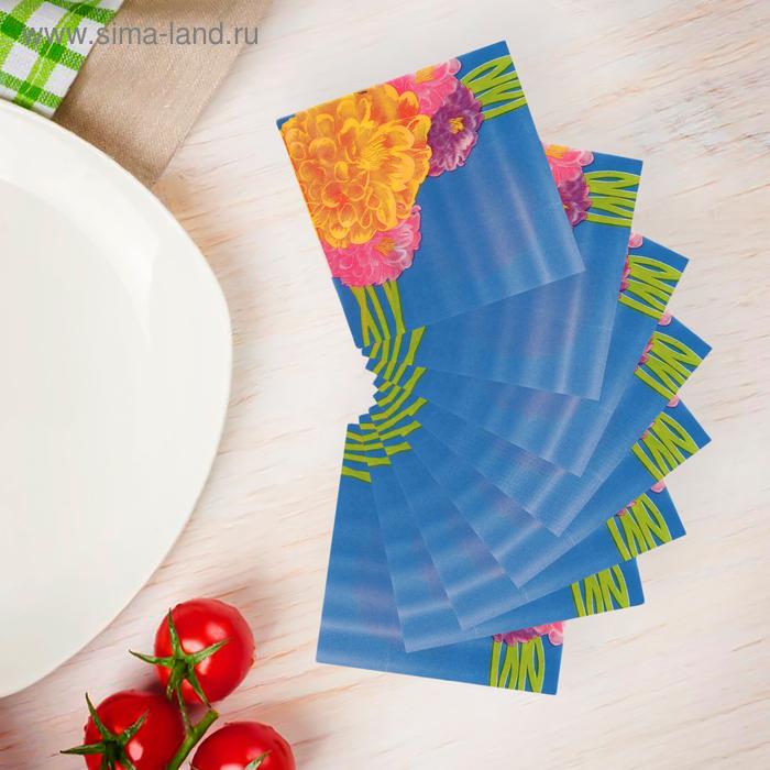 """Салфетки бумажные (набор 20 шт) 33*33 см """"Пионы разноцветные"""""""