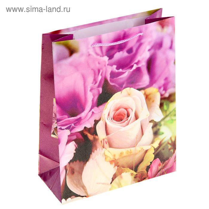 """Пакет ламинированный """"Белая роза в букете"""""""