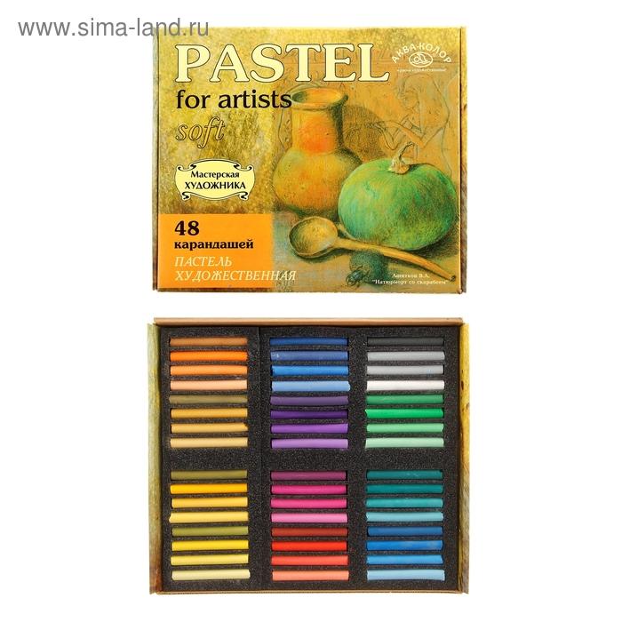 Пастель сухая 48 цветов в картонной коробке