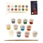 Лак для декорирования водополимерный Glitter набор 12 цветов*60 мл Фейерверк блистер К2714