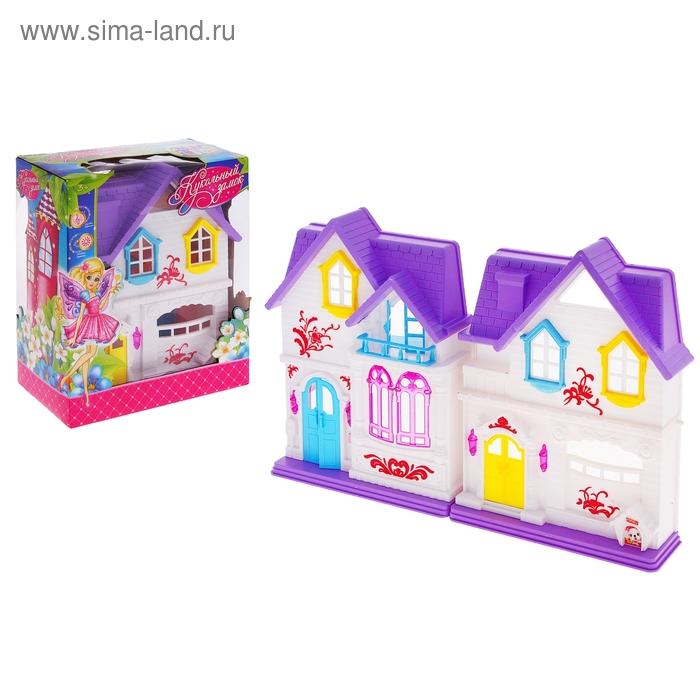 Кукольный замок складной, со световыми и звуковыми эффектами, работает от батареек