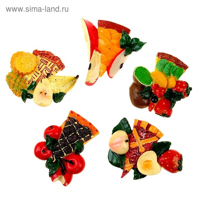 """Магнит """"Торт с фруктами"""" МИКС"""
