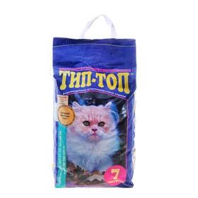 Наполнитель минеральный впитывающий для длинношерстных кошек 'ТИП-ТОП' 7л Ош