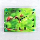"""Часы настенные прямоугольные """"Божьи коровки"""", стекло, 20х26 см микс"""