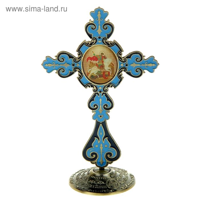 """Крест на подставке с иконой """"Великомученик Георгий Победоносец"""""""