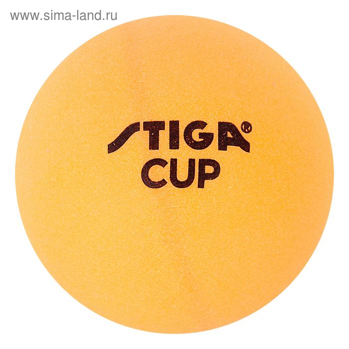 """Мяч для настольного тенниса """"Stiga Cup"""", 40 мм, оранжевый (набор 6 шт.)"""