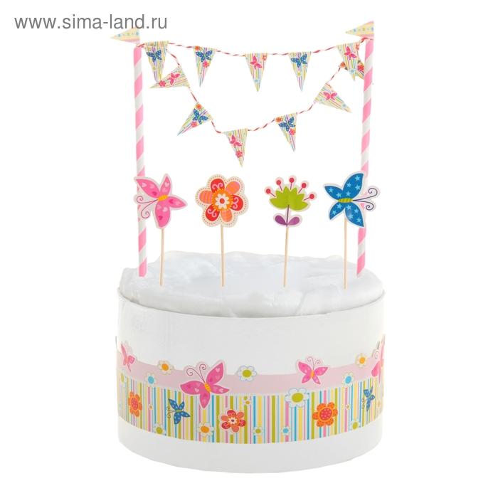 """Набор для торта """"Цветочная поляна"""""""