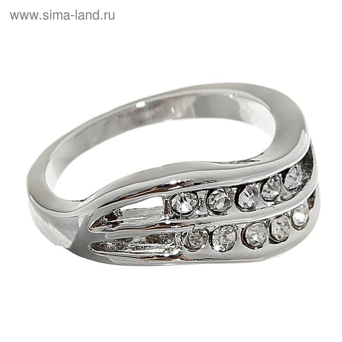 "Кольцо ""Волна"", цвет серебро, размер МИКС"