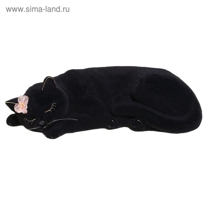 "Копилка ""Кошка Марта"" флок, чёрная, микс"
