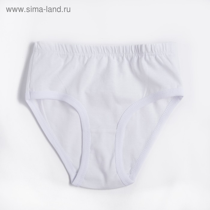 Трусы для девочки, рост 98 см (3 года), цвет белый