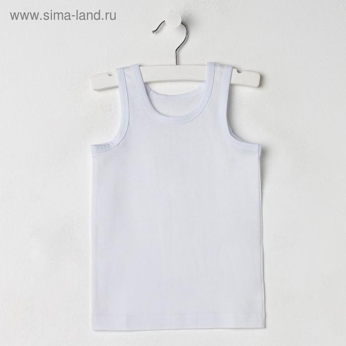 Майка для мальчика, рост 86 см (18 мес), цвет белый М256