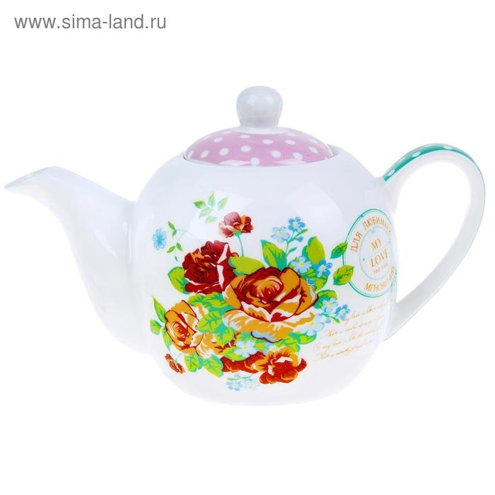 """Чайник """"Розовый букет"""", 400 мл"""