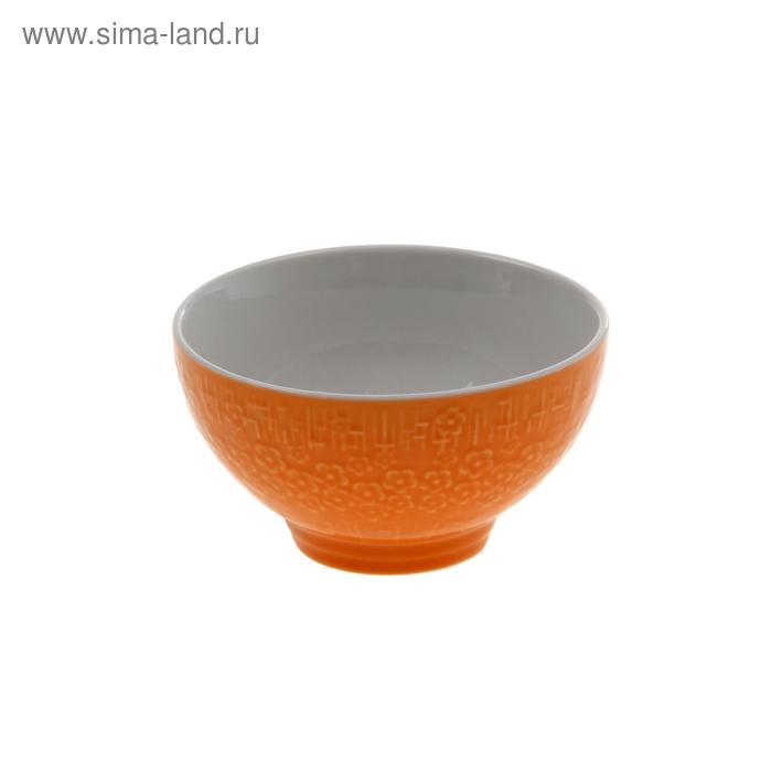 "Миска ""Вербена"" 300 мл 11х6 см, оранжевый"