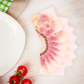 """Салфетки бумажные (набор 20 шт) """"Букет цветов"""" 33*33 см"""