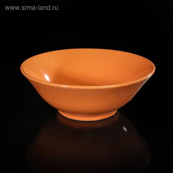 Салатник d=18 см, цвет оранжевый