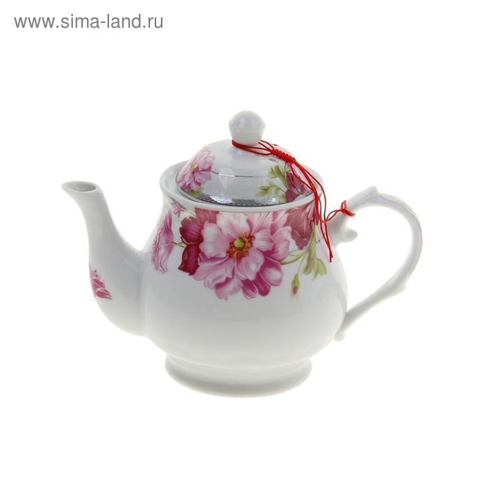 """Чайник заварочный 13х23х17 см """"Пионы"""""""