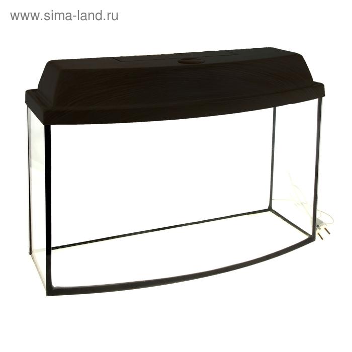 Аквариум с крышкой телевизор 65л, 60 х 33 х 35 см, венге