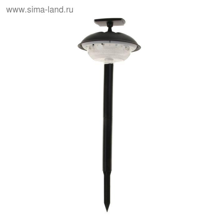 Светильник садовый LED(10+10)*1 Вт, d=20 см, солнечная батарея, 2 режима, установка на стену и в почву
