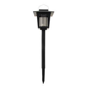 Светильник садовый ловушка насекомых УФ+LED*1 Вт, 33*15 см, солнечная батарея, 2 режима, пика