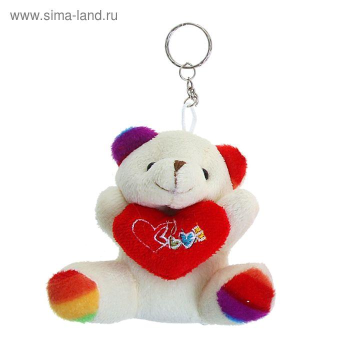 """Мягкая игрушка-брелок """"Мишка"""", цветные лапки и ушки, цвета МИКС"""
