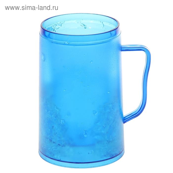 Кружка-охладитель 400 мл, цвет синий
