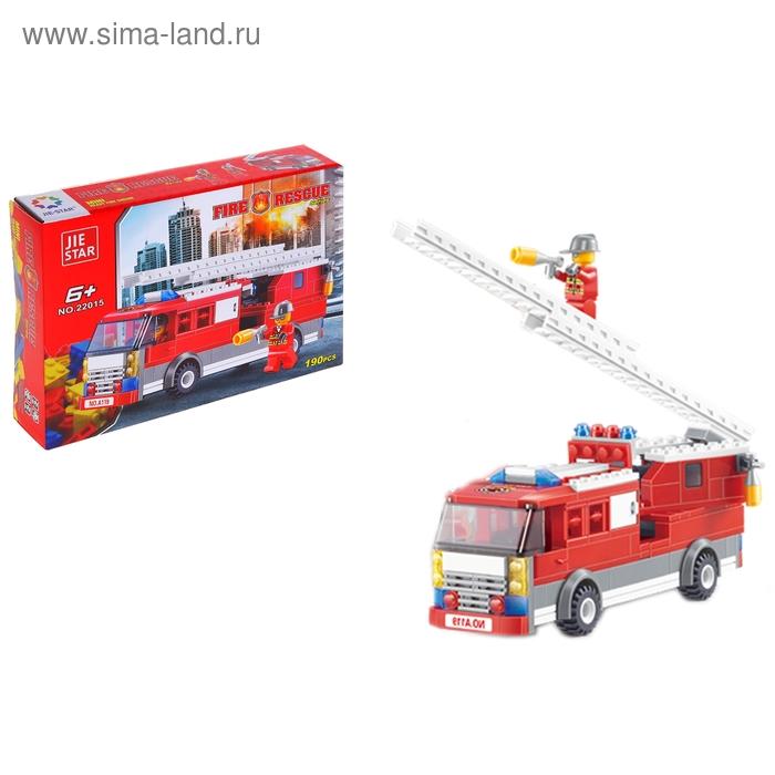 """Конструктор Пожарные """"Пожарная машина"""", 190 деталей"""
