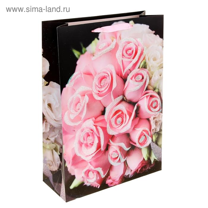 """Пакет ламинированный """"Пышный букет роз"""""""