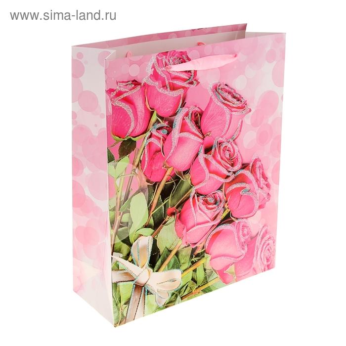 """Пакет ламинированный """"Букет нежных роз"""""""