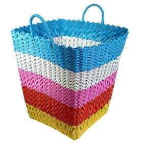 Корзина для белья плетеная, цвета МИКС