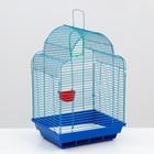 "Клетка для птиц ""Купола"" ( кормушка, жердочка, качель), 35 х 28 х 52 см"