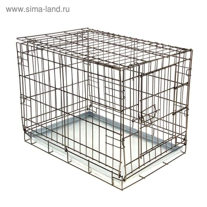 Клетка для собак № 1, 60 х 40 х 45 см