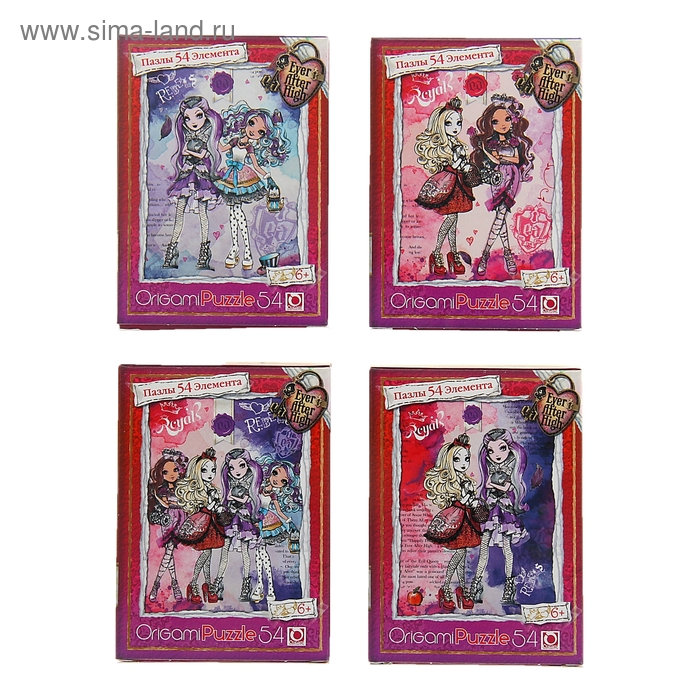 """Мини-пазл """"Ever After High"""", 54 элемента"""