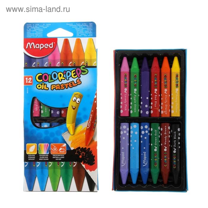 Пастель масляная детская 12 цветов Maped OIL PASTEL треугольный копус