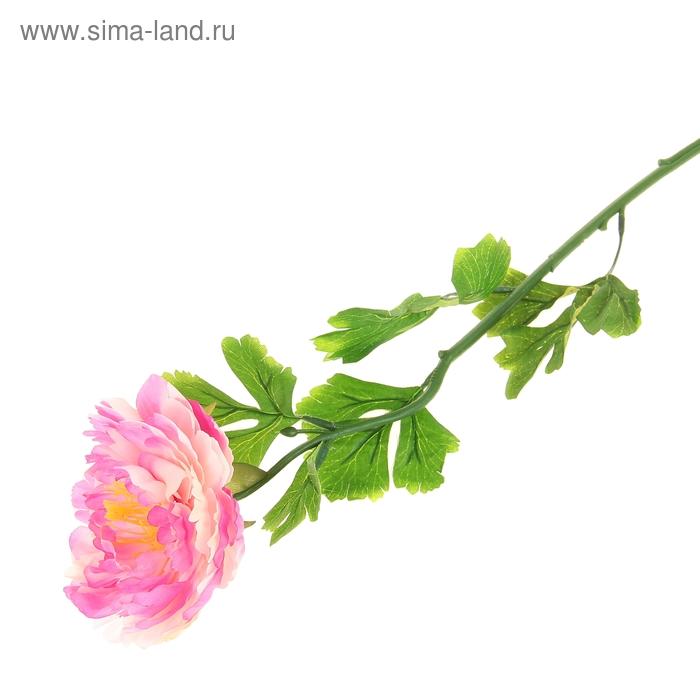 """Цветок искусственный """"Бело-розовый пион"""""""