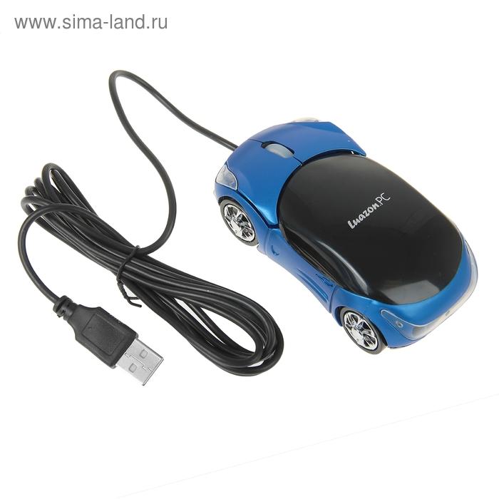 Мышь Luazon L-1001, оптическая, проводная, USB, синяя