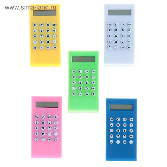 Калькулятор-зажим 8-разрядный корпус МИКС
