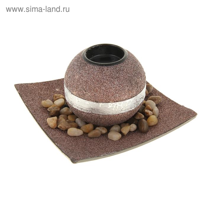 """Набор """"Золотой песок"""": подсвечник, подставка, декор"""