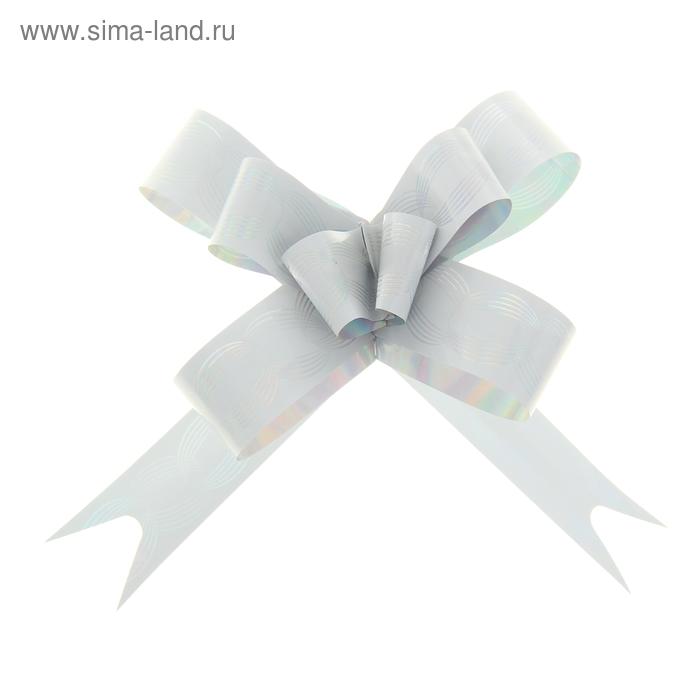 """Бант-бабочка №1,8 """"Кофейные зерна"""", цвет белый"""
