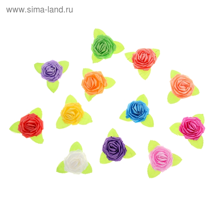 Бант-роза №5 (набор 100 шт), цвета ассорти