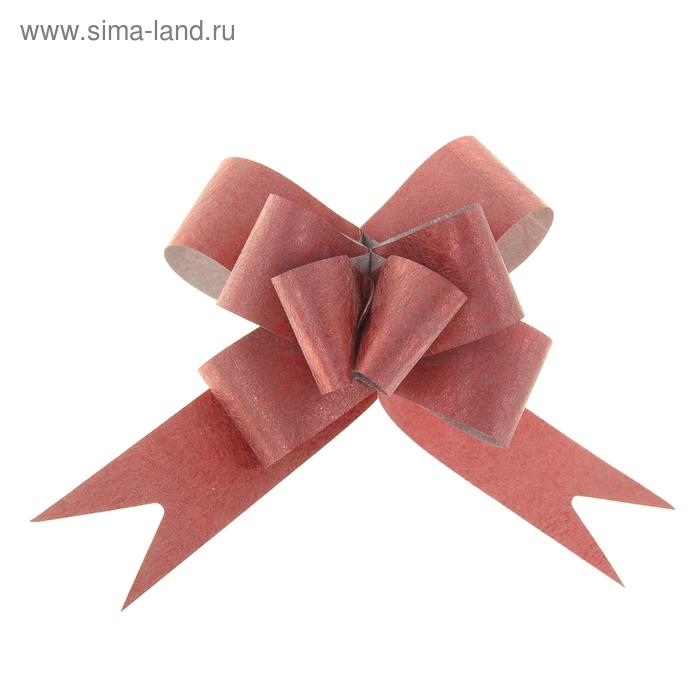 "Бант-бабочка №3 ""Фактура"", цвет бордовый"