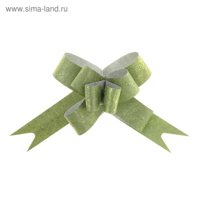 """Бант-бабочка № 1,2 """"Фактура"""", цвет зелёный"""