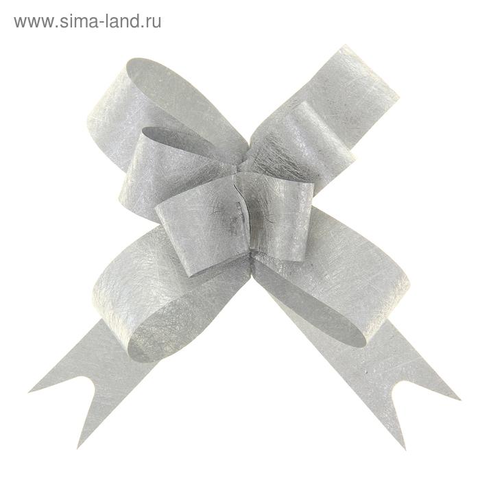 """Бант-бабочка №1,2 """"Фактура"""", цвет серебро"""