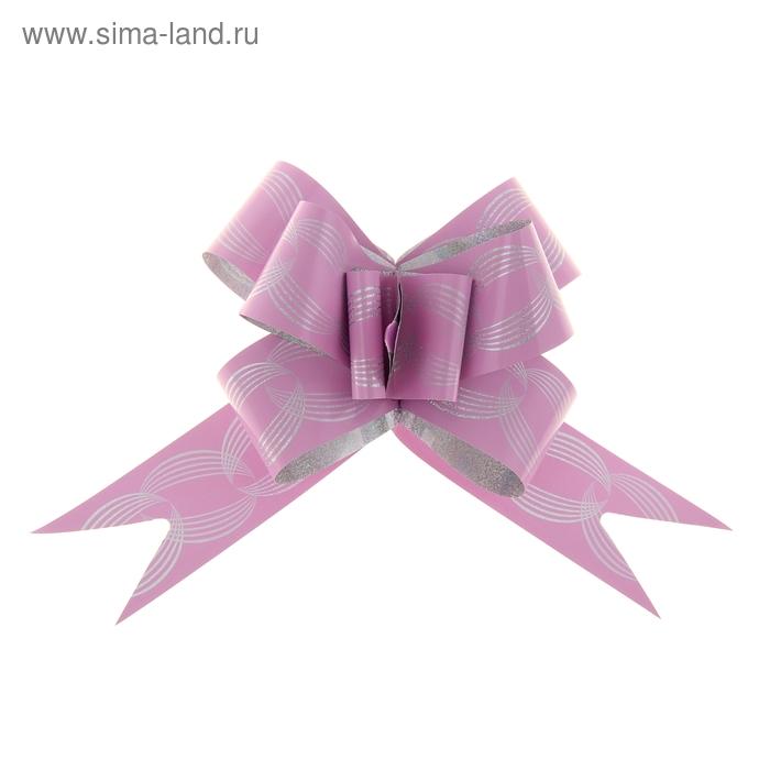 """Бант-бабочка №3 """"Кофейные зерна"""", цвет розовый"""