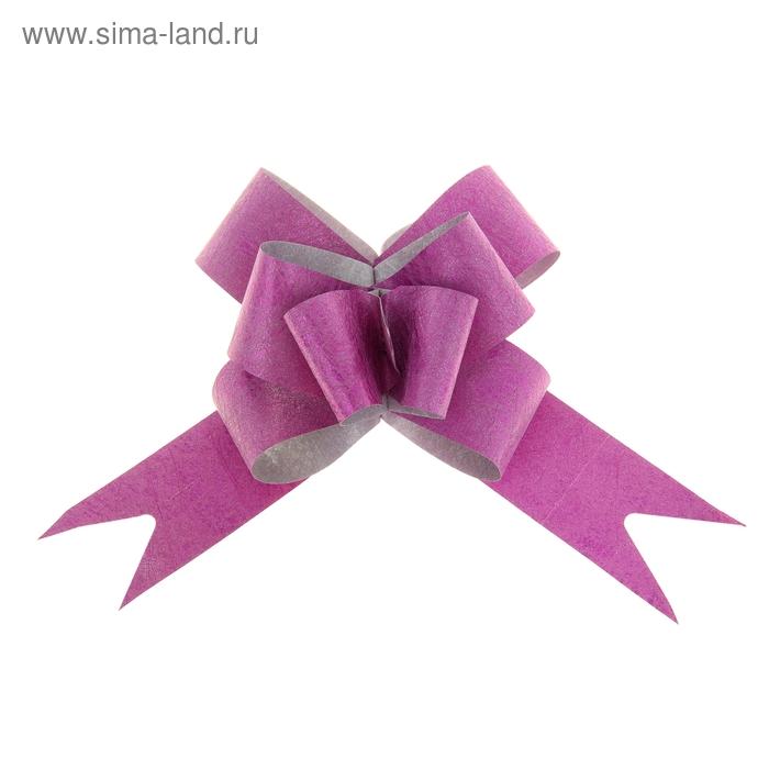 "Бант-бабочка №3 ""Фактура"", цвет малиновый"