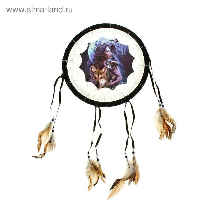 """Ловец снов """"Девушка с волком, совой и волчонком на руках"""""""