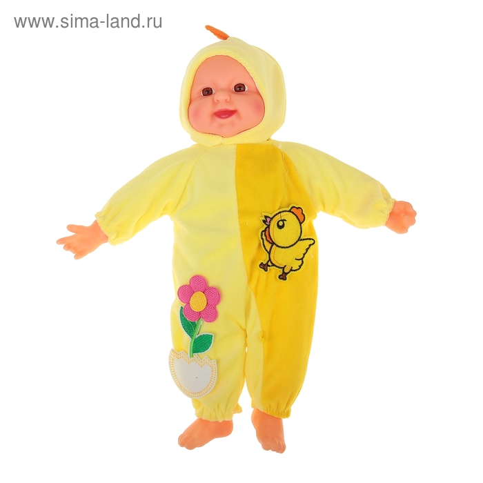 """Мягкая игрушка """"Кукла костюм цыпленок"""", хохочет"""