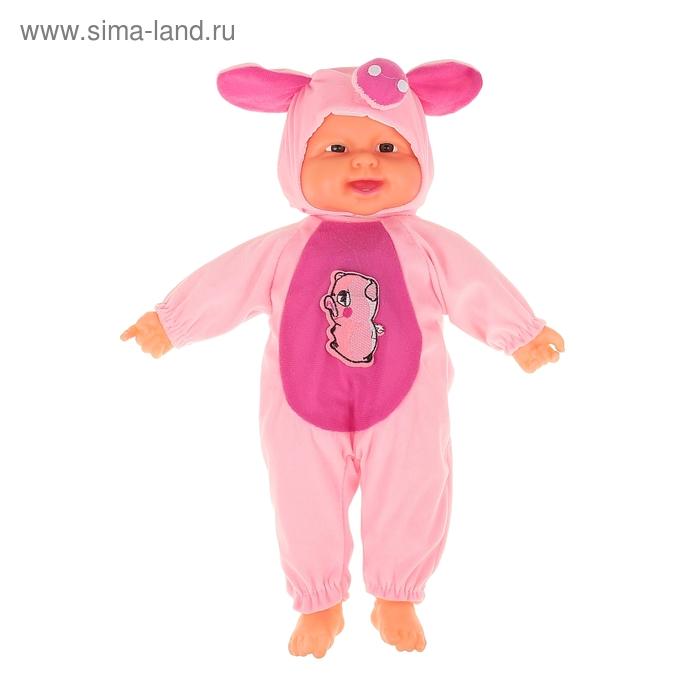 "Мягкая игрушка ""Кукла костюм свинка"", хохочет"