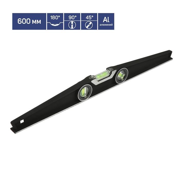 Уровень строительный TUNDRA premium, алюминиевый, трапециевидный, 3 глазка, 60 см