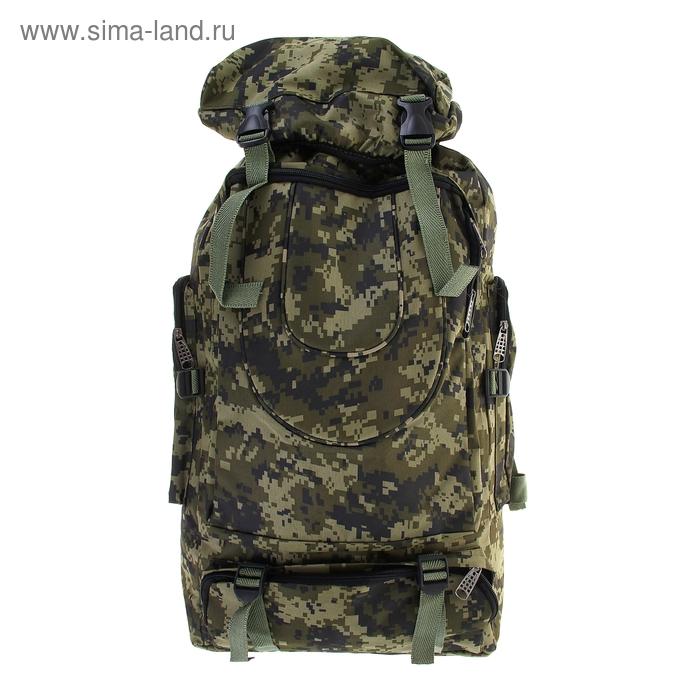 """Рюкзак туристический """"Милитари"""", трансформер, 1 отдел, 3 наружных и 2 боковых кармана, объём - 33л, цвет хаки"""