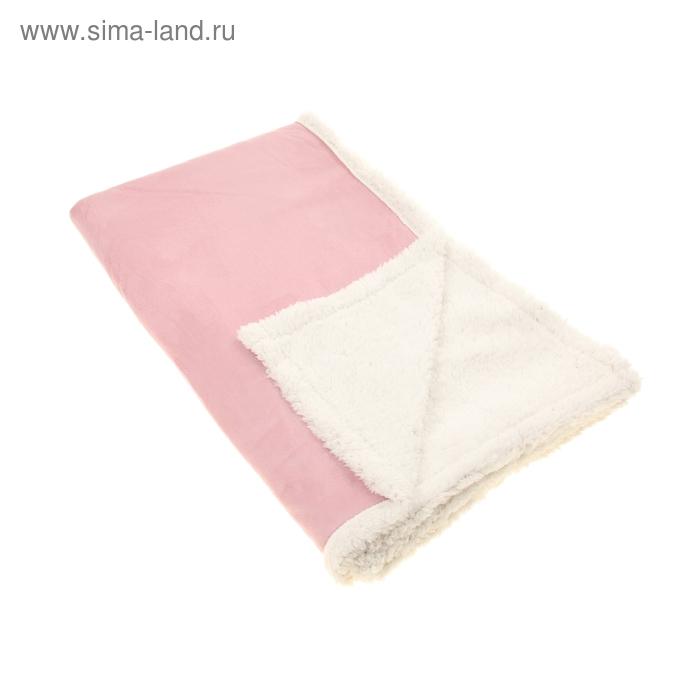 """Плед двухслойный """"Этель"""", цвет розовый"""